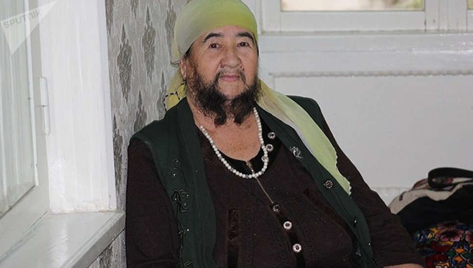 Казахская пенсионерка похвасталась бородой