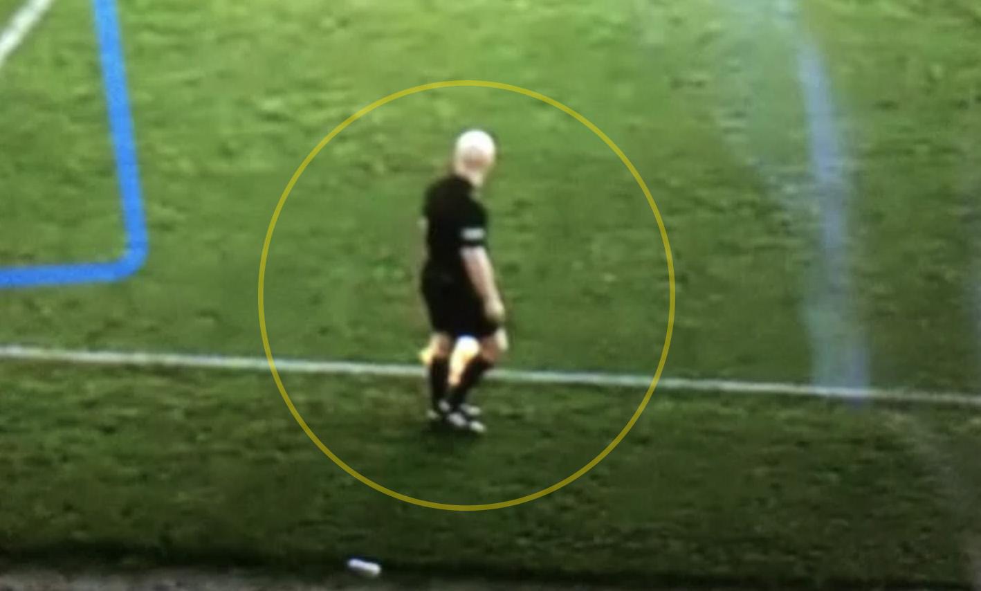 Искусственный интеллект спутал лысину судьи с футбольным мячом