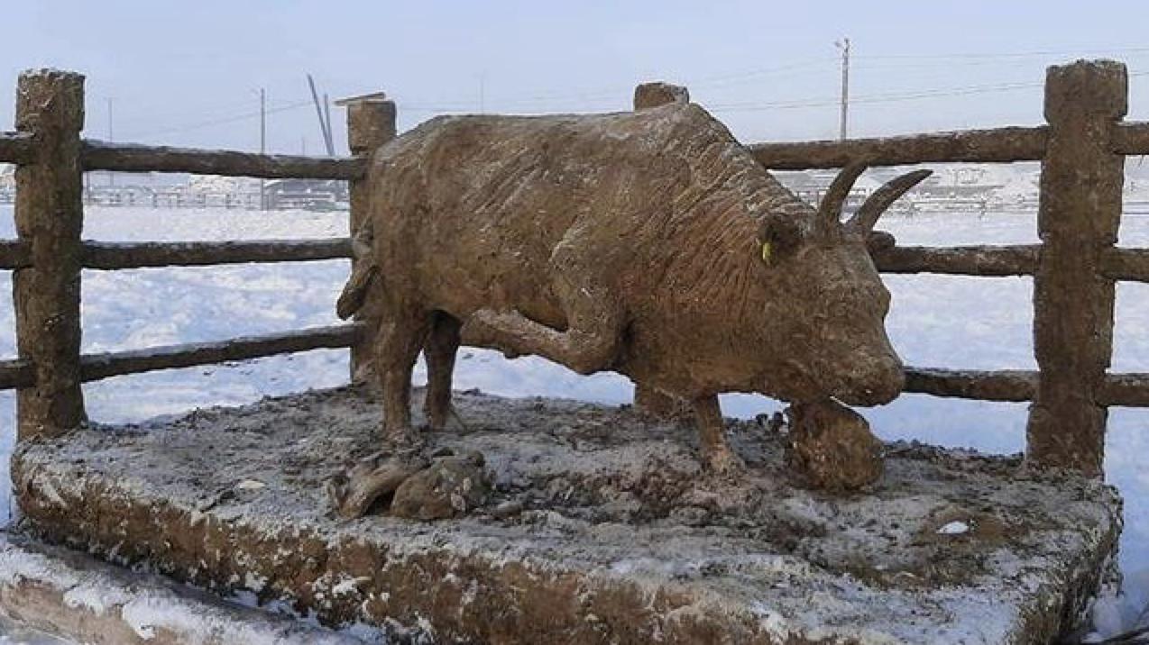 В Якутии появился бык из навоза