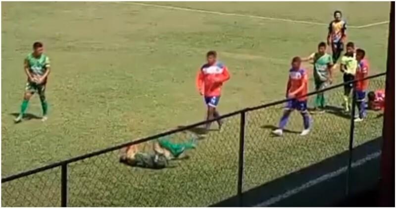 Футболист пытался разыграть травму, но оказался бездарным актером